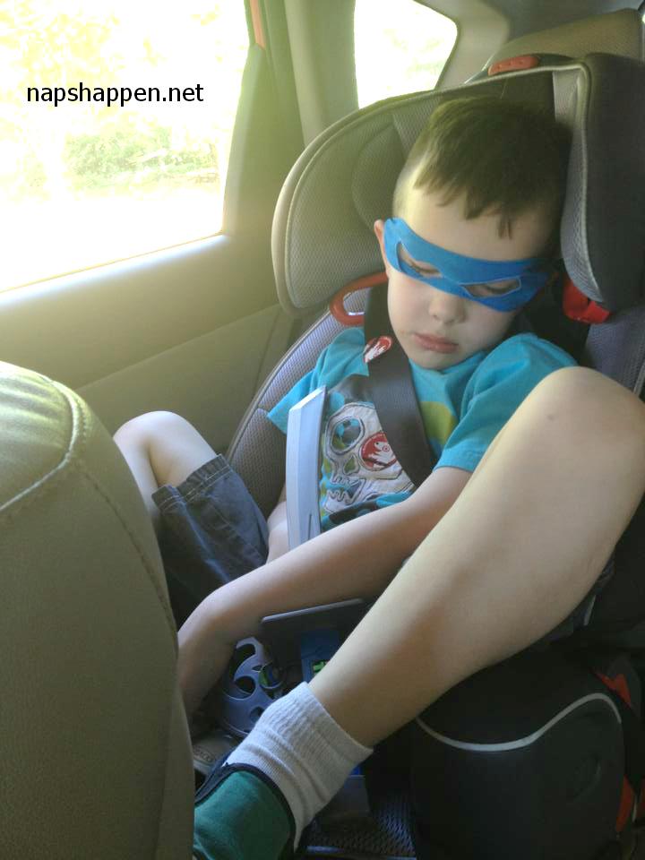 boy asleep in costume