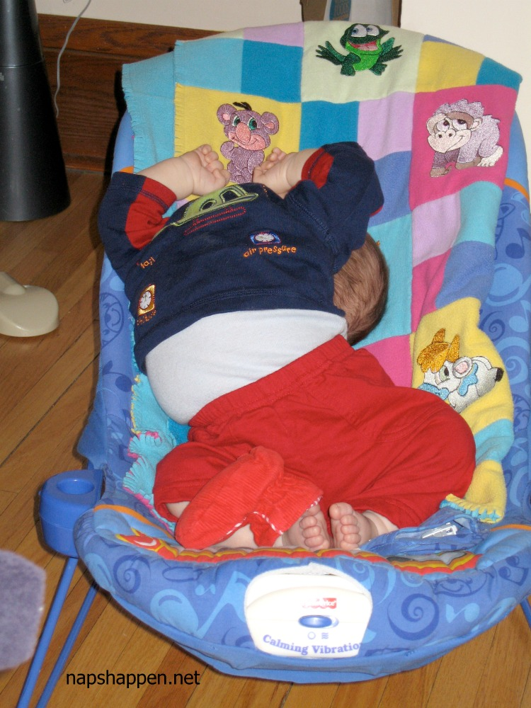 child naps in strange position