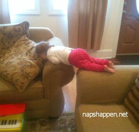 child asleep in plank
